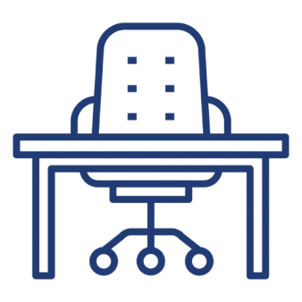 icon of an office chair