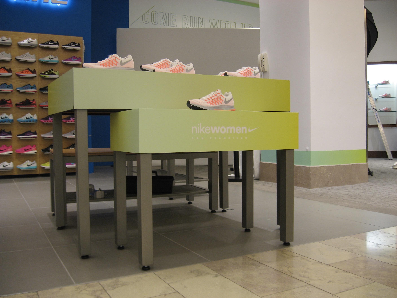 nike shoe display podium wrap