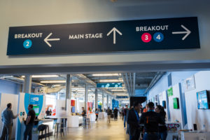 wayfinding signs at Xerocon corporate event