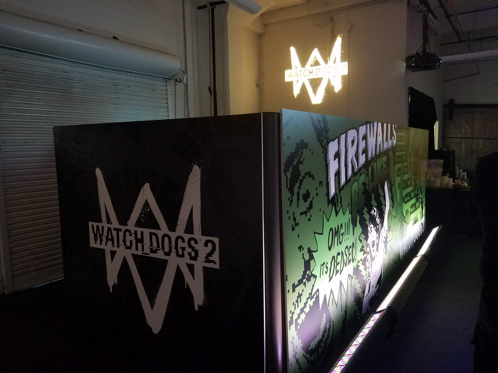 Printed Walls for Watchdog 2 Event