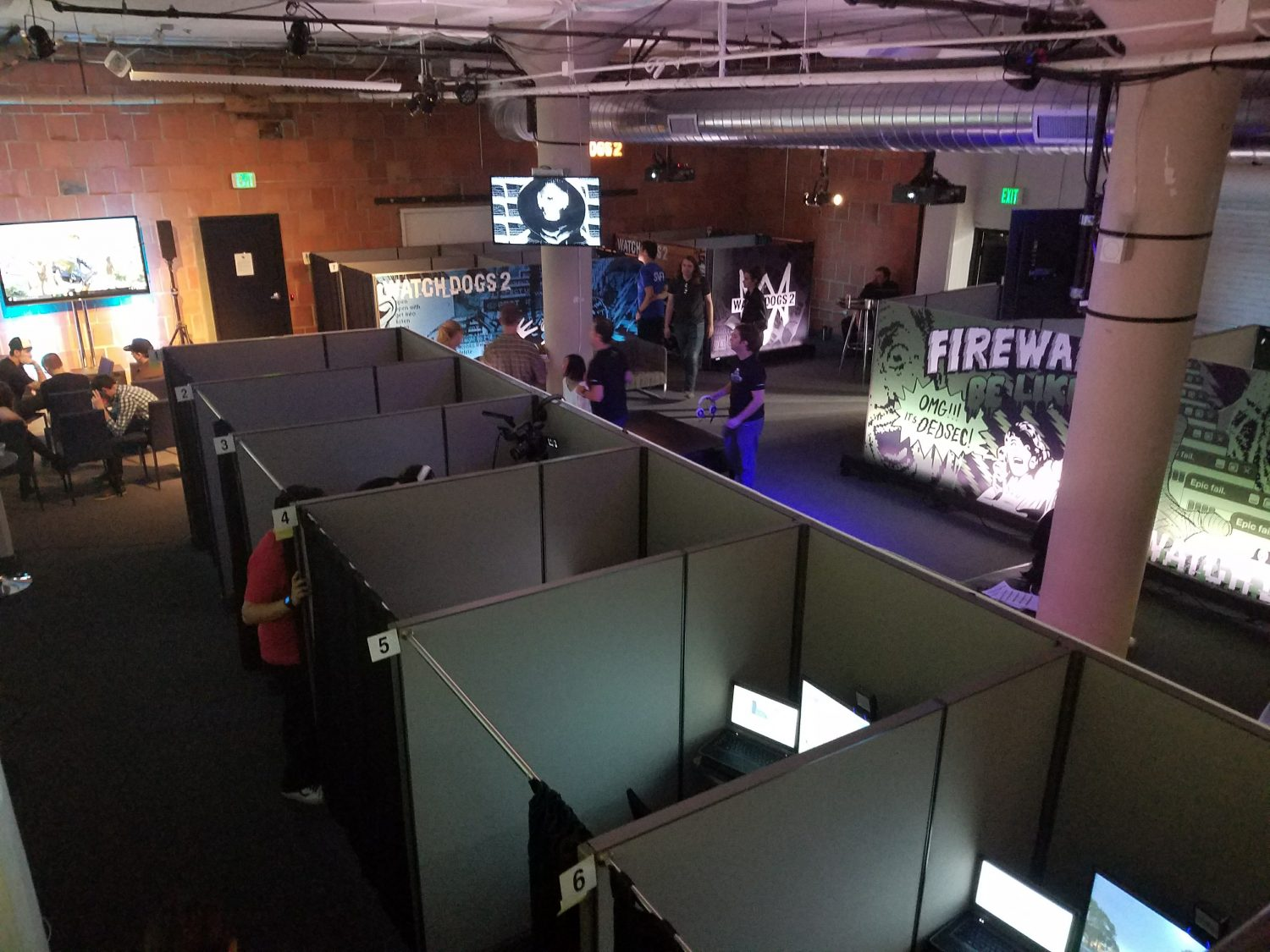 Overhead view of the watchdogs 2 event