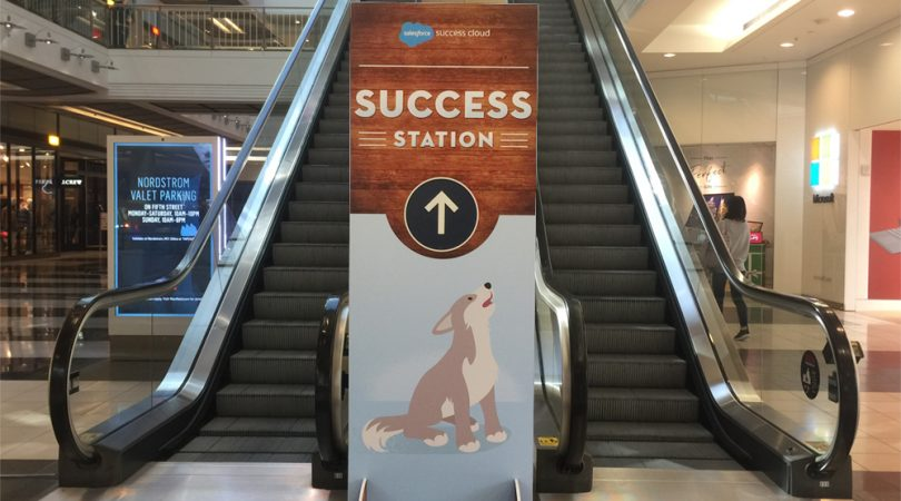 Self-standing-event-sign-made-in-westfeild-mall