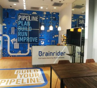 Inside view of the brainrider pop up shop