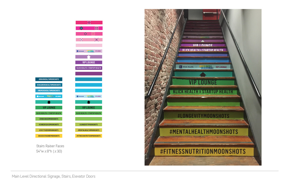 Stair graphics from design to application